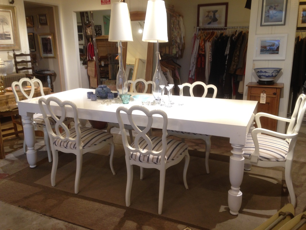Just in Unique white-gloss lacquered dining table and six chairs ~ $1100 : just chairs - Cheerinfomania.Com