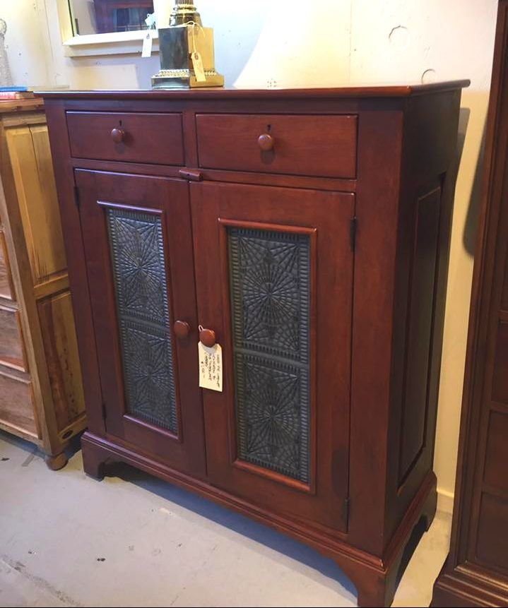 Just In Antique Cherry Wood Pie Cabinet By Bob Timberlake For Lexington